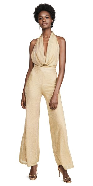 MISHA COLLECTION olivia jumpsuit in gold