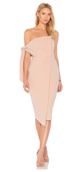 """MISHA COLLECTION Romi Dress in blush - """"Poly blend. Dry clean only. Fully lined. Lightly padded..."""