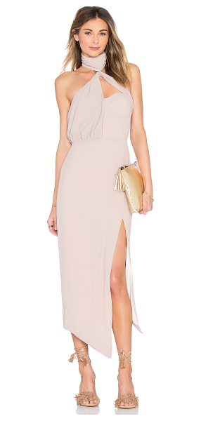 MISHA COLLECTION Triviata Dress in blush - 100% poly. Dry clean only. Back hidden zipper closure....