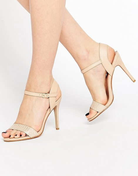 "MISS KG Imogen Barely There Heeled Sandals in beige - """"Shoes by Miss KG, Leather-look upper, Barely there..."