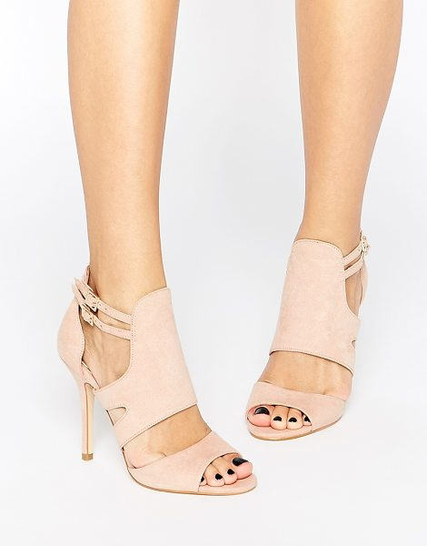 Miss Kg India Cut Out Heeled Sandals in beige - Shoes by Miss KG, Matte leather-look upper, Pin buckle...