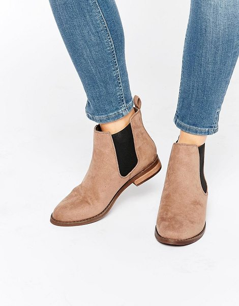 Miss Kg Jensen Chelsea Boots in beige - Shoes by Miss KG, Faux-suede upper, Pull-on style,...