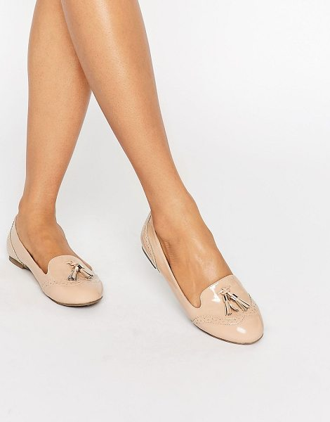 Miss Kg karina brogue tassel loafers in nude1 - Shoes by Miss KG, Smooth faux-leather upper, Slip-on...