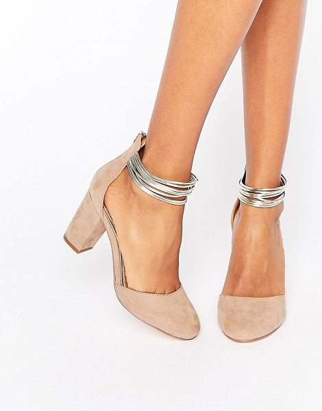 Miss Kg Kitten heel 2 Part Shoes in beige - Shoes by Miss KG, Textile upper, Zip back fastening,...