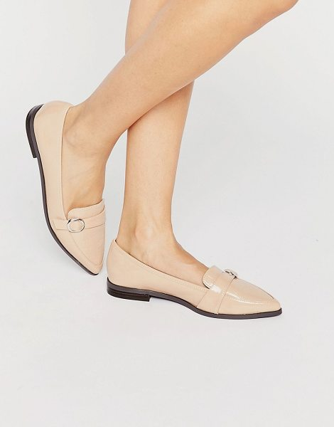 MISS KG Neeve Buckle Strap Point Flat Shoes - Flat shoes by Miss KG, Faux-leather upper, Patent...