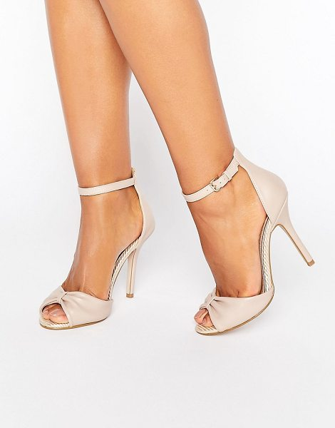 """Miss Kg Sara Barely There Sandal in beige - """"""""Shoes by Miss KG, Faux-leather upper, Ankle-strap..."""