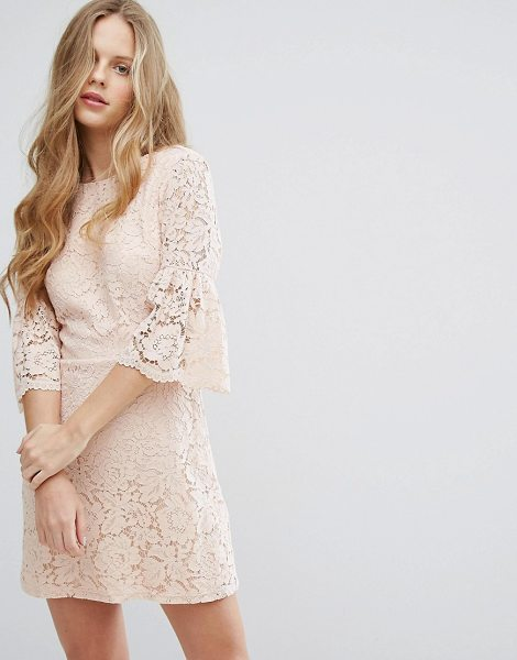 "Miss Selfridge All Over Lace Dress in beige - """"Lace dress by Miss Selfridge, Lined lace, High..."