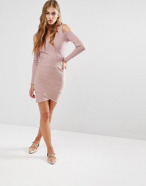 Miss Selfridge Bandage Skirt in pink - Skirt by Miss Selfridge, Stretch knitted fabric,...