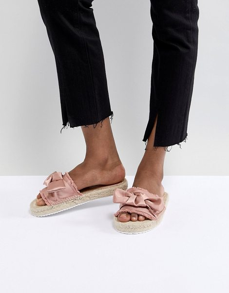 Miss Selfridge bow espadrille sandals in blushsatin - Espadrilles by Miss Selfridge, Sweet looks from the...