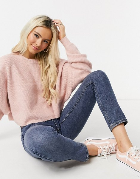 Miss Selfridge boxy sweatshirt in pink in pink