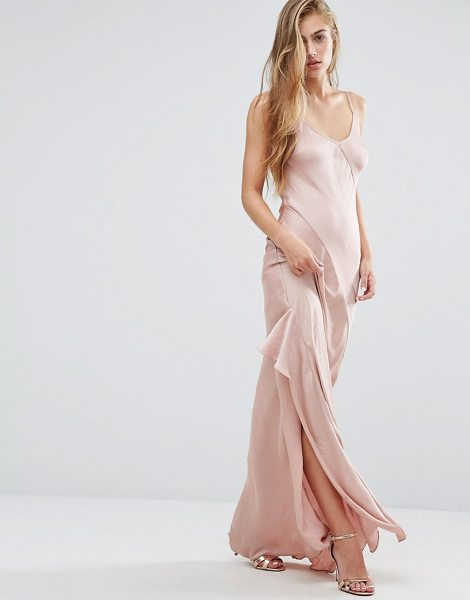"Miss Selfridge Cami Slip Maxi Dress in pink - """"Maxi dress by Miss Selfridge, Smooth woven fabric,..."