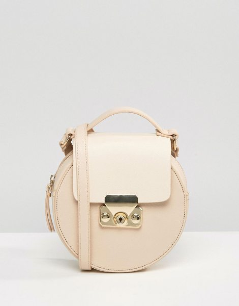 MISS SELFRIDGE Circular Cross Body Bag - Cart by Miss Selfridge, Faux-leather outer, Fabric...