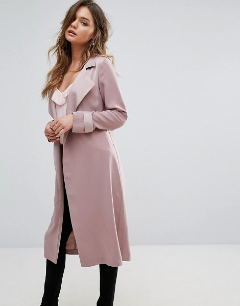 MISS SELFRIDGE Smart Duster Coat - Coat by Miss Selfridge, Lightweight woven fabric,...