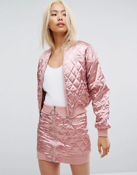 "MISSGUIDED Barbie Quilted Bomber Jacket in pink - """"Bomber jacket by Missguided, Designed in collaboration..."