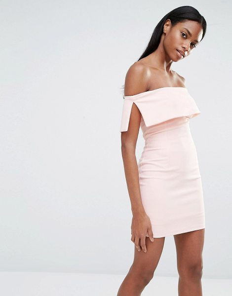 "MISSGUIDED Bardot Bodycon Mini Dress in pink - """"Dress by Missguided, Lightly textured woven fabric,..."