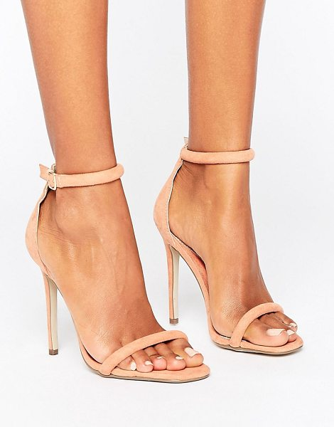 "MISSGUIDED Barely There Ankle Strap Heeled Sandals in pink - """"Heels by Missguided, Textile upper, Ankle-strap..."