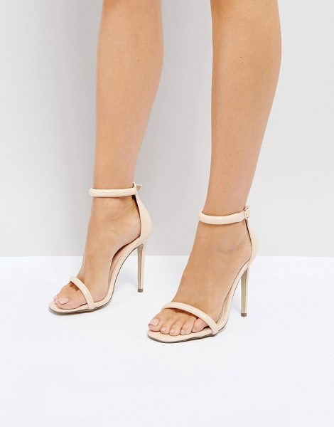 MISSGUIDED Barely There Ankle Strap Sandals in pink
