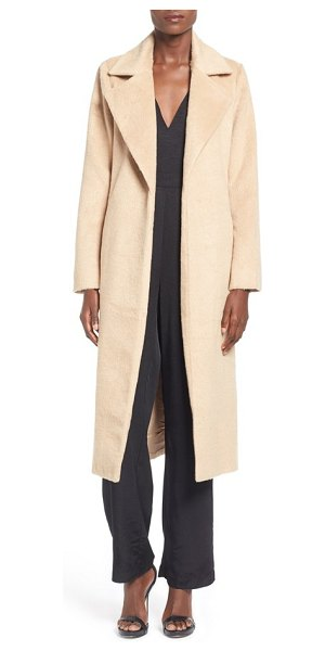 MISSGUIDED belted wrap coat in camel - This long coat is effortlessly elegant and chic with its...