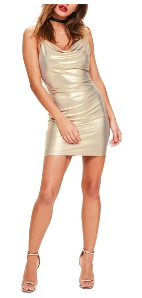 MISSGUIDED body-con dress in gold
