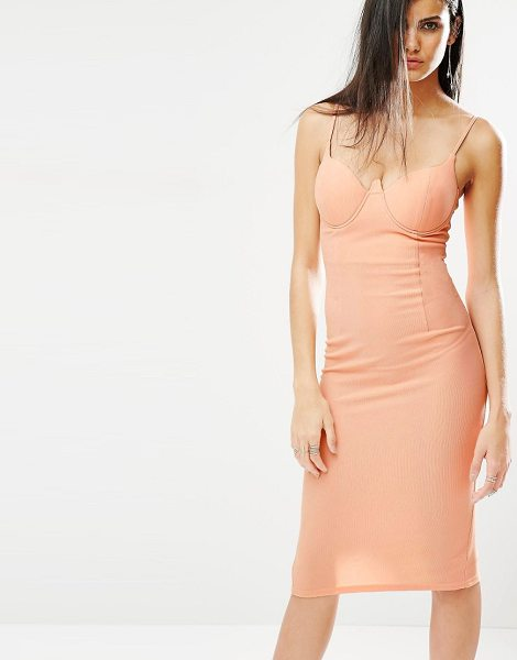 MISSGUIDED Bodycon Cami Dress in pink - Bodycon dress by Missguided, Stretch fabric, Sweetheart...