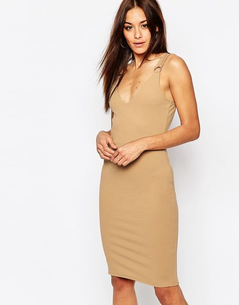 MISSGUIDED Buckle Detail Dress in tan - Bodycon dress by Missguided, Unlined stretch woven...