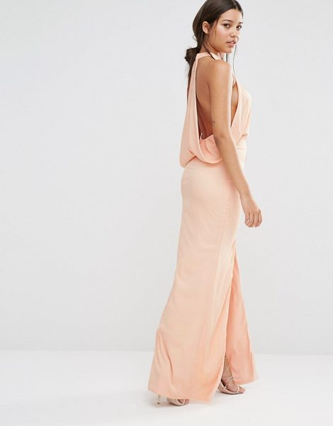 MISSGUIDED Cowl Back Maxi Dress in beige - Maxi dress by Missguided, Woven fabric, High neckline,...