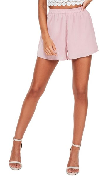 MISSGUIDED elastic waist crepe shorts in dusky pink - You have places to be, and the easy elastic waist of...