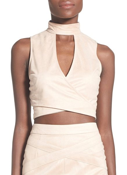 MISSGUIDED faux suede crop top - Create an unforgettable going-out look with a supersoft...