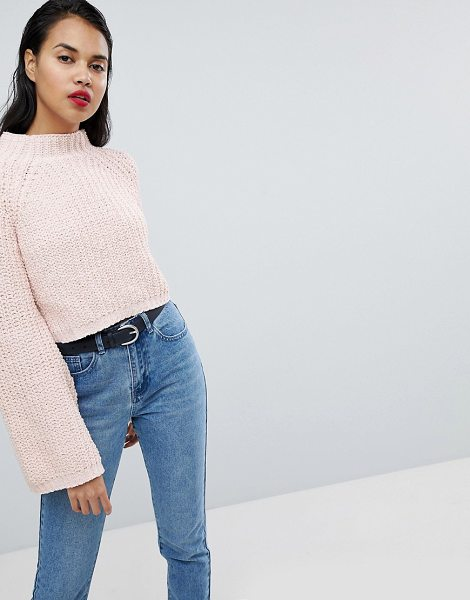 MISSGUIDED Flare Sleeve Knitted Sweater in pink - Sweater by Missguided, Some serious daytime inspiration...