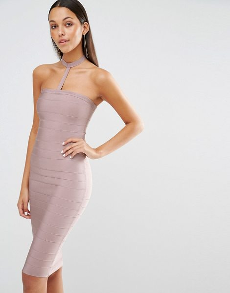 MISSGUIDED Harness choker bodycon dress - Midi dress by Missguided Bandage-style stretch fabric...