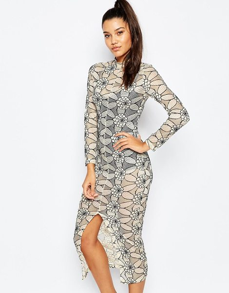 MISSGUIDED Lace midi body-conscious dress - Midi dress by Missguided Sheer fishnet lace Bodysuit...