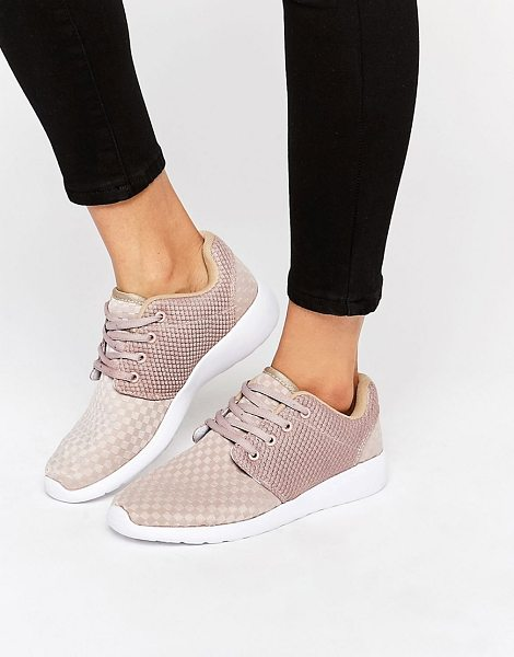 MISSGUIDED Lace Up Sneaker in beige - Sneakers by Missguided, Textile upper, Lace-up...