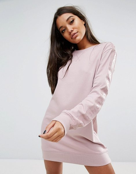 "MISSGUIDED Londunn Logo Sleeve Detail Sweat Dress in pink - """"Dress by Missguided, Designed in collaboration with..."
