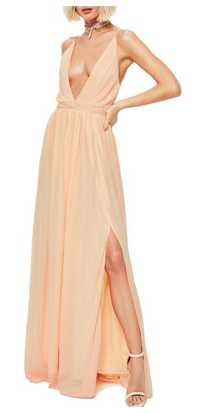 MISSGUIDED maxi dress in nude