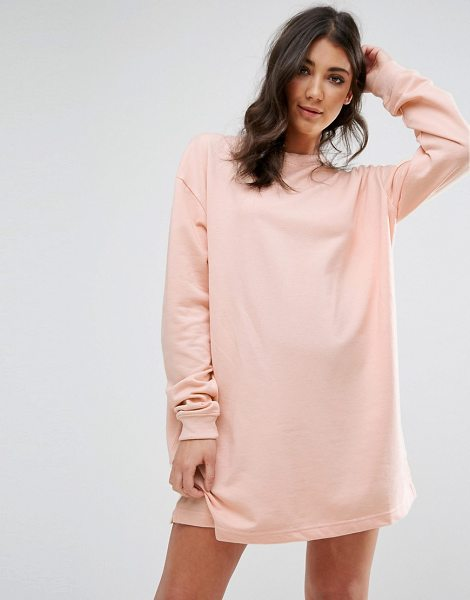 """MISSGUIDED Oversized Sweater Dress in pink - """"""""Casual dress by Missguided, Soft-touch sweat, Crew..."""