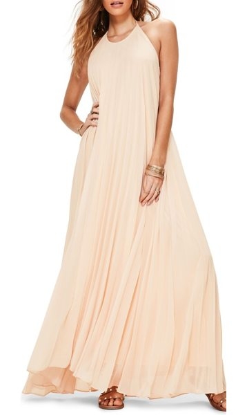 MISSGUIDED pleated maxi dress - As breezy as your beachfront vacay, this halter-style...