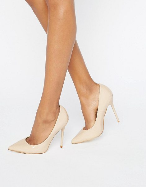 MISSGUIDED Pointed Heeled Court Shoe - Shoes by Missguided, Patent upper, Slip-on style,...