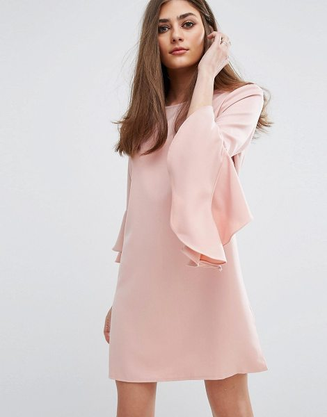 "MISSGUIDED Ruffle Flute Sleeve Shift Dress in pink - """"Dress by Missguided, Stretch woven fabric, Round neck,..."