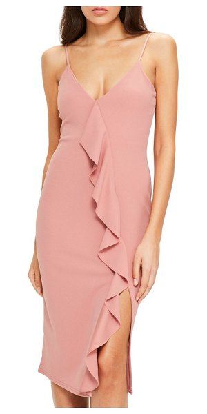 MISSGUIDED ruffle dress in pink - Crafted from lightweight chiffon, this romantic dress...