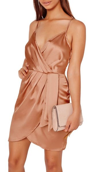 MISSGUIDED satin minidress in rose - You'll be sleek, sultry and ready for a night on the...