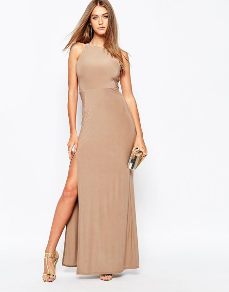 MISSGUIDED Slinky side split maxi dress - Maxi dress by Missguided Silky stretch fabric High...