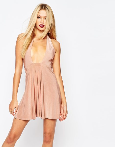 MISSGUIDED Two way skater dress in rose - Dress by Missguided Stretch fabric Multi-way style Zip...