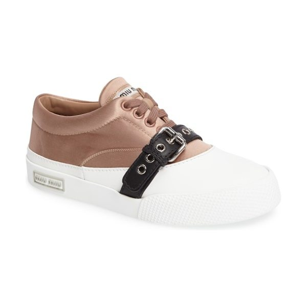 MIU MIU belted sneaker - A belted contrast adds an unexpected element to a...