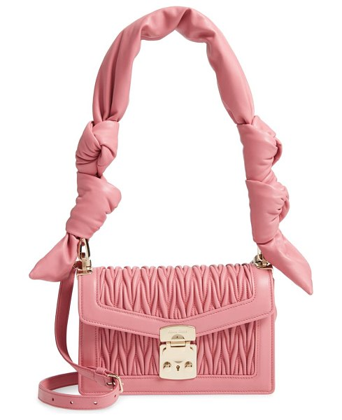 Miu Miu confidential matelasse quilted lambskin crossbody bag in pink