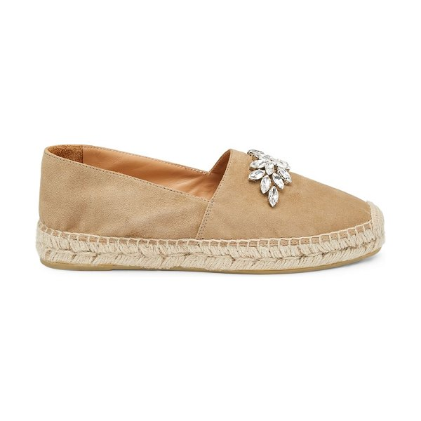 Miu Miu jewelled suede espadrilles in cord