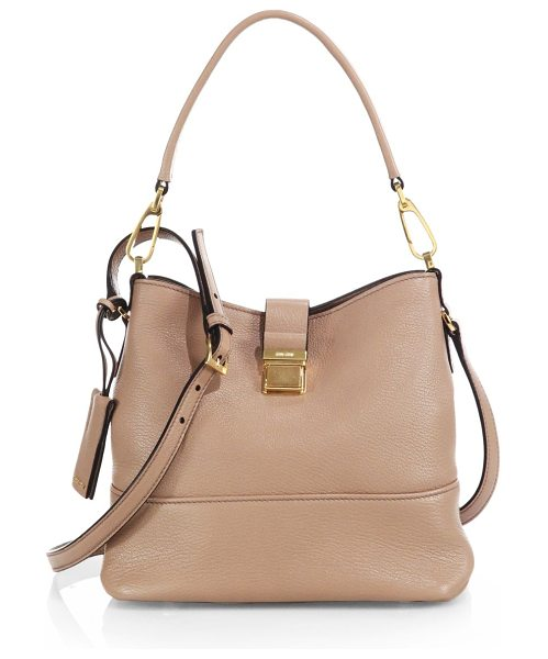 Miu Miu Madras crossbody bag in cammeo-nude - A slouchy yet polished design in rich pebbled leather...