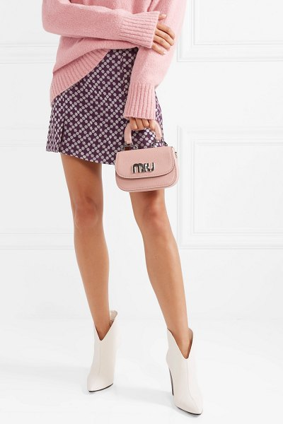 Miu Miu mini textured-leather shoulder bag in antique rose - When it comes to accessories, neutral and monochrome...