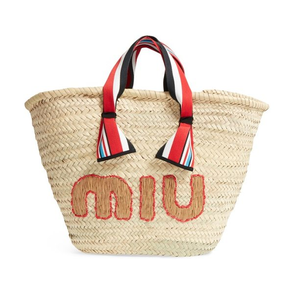 Miu Miu paglia straw top handle tote in naturale/ caramel - One of those bags that you want to carry all season...
