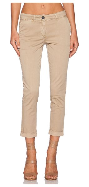 "MKT studio Pazz crop in tan - 97% cotton 3% elastane. 15"""" at the knee narrows to 13""""..."