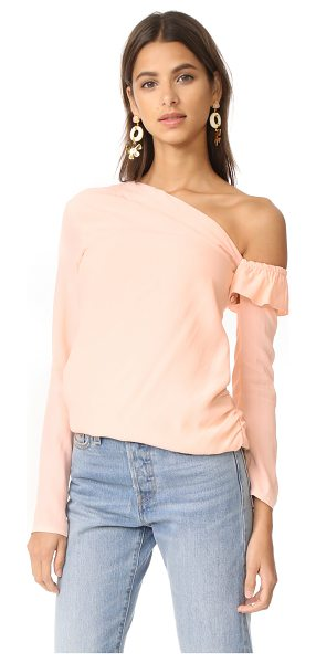 MLM Label asymmetrical jude top in nude - Exclusive to Shopbop. An asymmetrical, woven MLM LABEL...